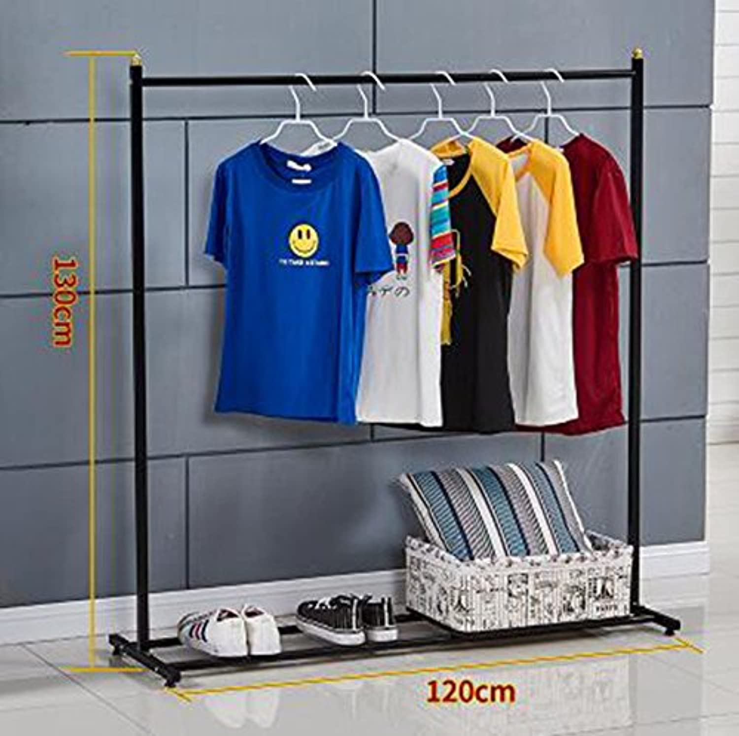 AIDELAI Coat Rack Clothes Racks Single-Pole Balconies Clothes Racks Household bedrooms Floor Hangers Simple Interior Hangers Hanging Hanger (color   A3)