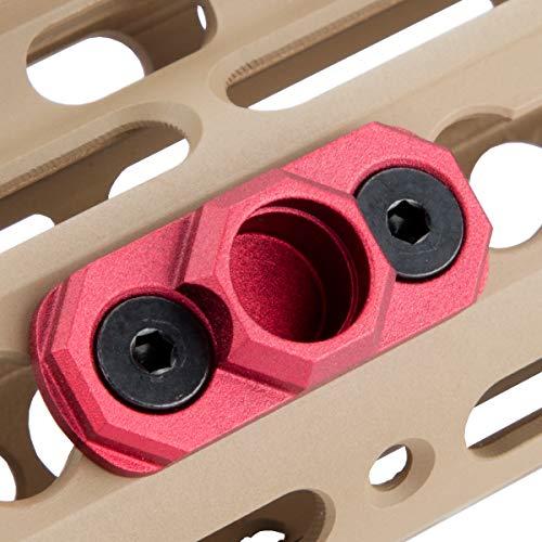 TuFok Keymod QD Sling Mount Sling Swivel Adapter - Gun Sling Attachment for Keymod Rail,Rifle Sling Adapter Attachment (RED)