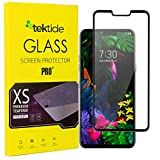 Tektide Screen Protector Compatible for LG V50 ThinQ, [Full Glue Full Cover] Drop-Protection Shatter-Proof Safety Laminated Tempered Glass Screen Cover/Display Shield [2 Pack]
