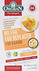It can be used in cakes, meringues or to make egg free mayonnaise It is also great as a pantry fill as each packet has the equivalent of 33 eggs Healthy