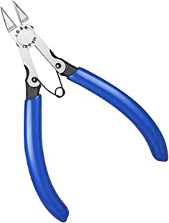 IGAN-330 Wire Flush Cutters, Electronic Model Sprue Wire Clippers, Ultra Sharp and Powerful CR-V Side Cutting nippers, Ideal for Clean Cut and Precision Cutting Needs