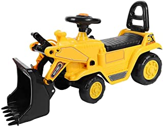 Excavator Toy for Children, Excavator Toy Large with Horn and Shovel Controllable Toy Vehicle Riding for Children Playing,...