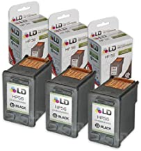 LD Remanufactured Ink Cartridge Replacement for HP 56 C6656AN (Black, 3-Pack)