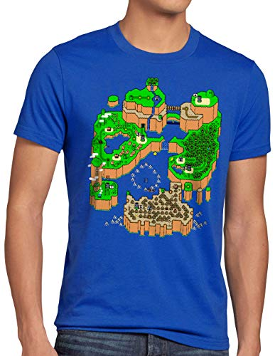 CottonCloud Mario Mapa Camiseta para Hombre T-Shirt Consola de Videojuegos SNES n64,...