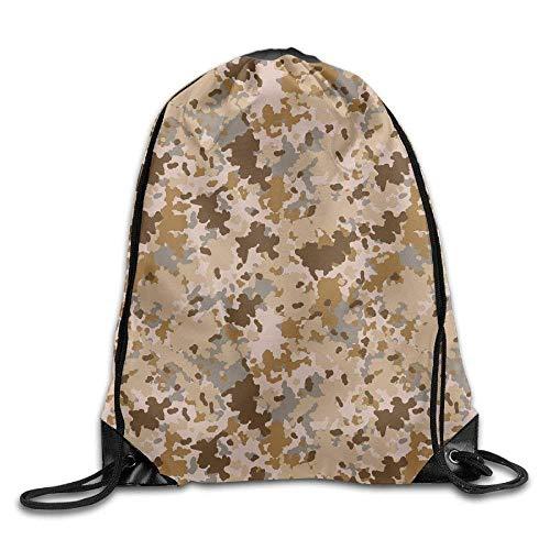 Sac de Sport à Cordon, Sac à Dos de Sport, Sac à Dos de Voyage, Forest Camouflage Pattern Print Drawstring Backpack Rucksack Shoulder Bags Gym Bag Sport Bag