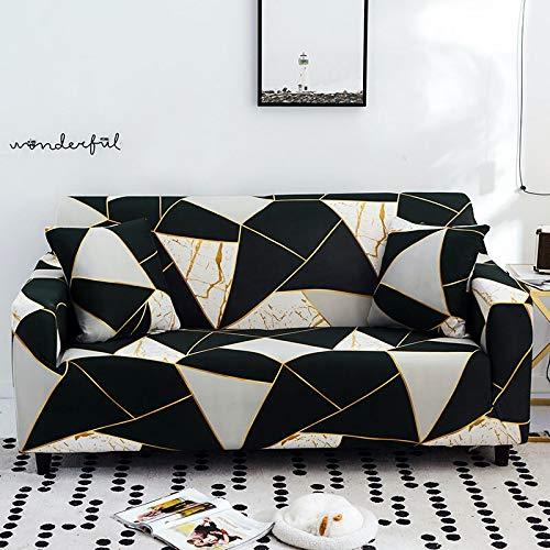 WXQY Funda de sofá elástica de Esquina en Forma de L Funda de sofá Modular Sala de Estar Todo Incluido sofá a Prueba de Polvo Toalla Funda de sofá A3 3 plazas