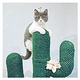 Jjwlkeji Arbre à Chat Coupe sisale de 10 mètres de diamètre de 6 mm, pour Arbre de Chat, Cadre d'escalade Mignon Cactus Chat (Color : Green)