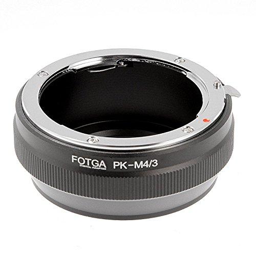Fotga - Anillo adaptador de montura para objetivo Pentax PK a Olympus/Panasonic Micro 4/3 M4/3 M43 cuatro tercios de cámara EP-1 GF1 G1 GH1 GF2 3 G2 G1 GX7