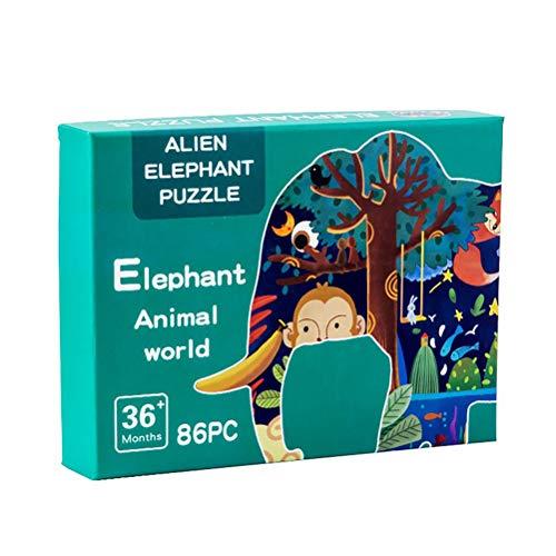 Gspose 3D-Puzzle-Würfel-Gebäude, Block-Modell-Denkspielspielzeug, Zusammenbau von Tischspielzeug für Kinder