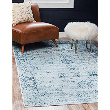 Unique Loom Sofia Collection Traditional Vintage Light Blue Area Rug (9' x 12')