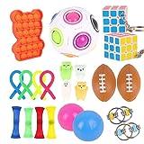 Herefun Fidget Toys Set, Giocattoli Sensoriali Anti-ansia Antistress Estrusione Giocattoli, Sensoriali per Alleviare Lo Stress Decompressione Giocattoli per Bambini