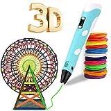 Pluma 3D, Bolígrafo 3D Pluma de Impresión 3D con 12 colores de filamento PLA, compatible con PLA y...