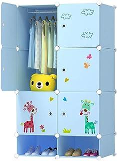Simple Armoire Simple Moderne Enfants assemblé Résine Garde-Robe Casier de Rangement en Plastique Pliable Bricolage Cabine...