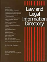 Law and Legal Information Directory: A Guide to More Than 21,000 National and International Organizations, Bar Associations, Bar Examination and Admission to Legal Practice Requirements,