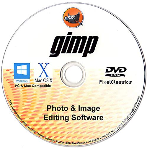 GIMP Photo Editor 2021 Premium Professional Image Editing Software for PC Windows 10 8.1 8 7 Vista XP, Mac OS X & Linux - Full Program & No Monthly Subscription!