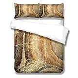 Bettwäsche 220x240 Braunbeiger Marmor Bettdecke Hypoallergen Mikrofaser Bettwäsche-Sets AtmungsaktivAngenehme - 1 bettbezug mit Reißverschluss + 2 Kissenbezug 80x80