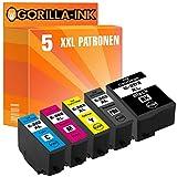 Gorilla-Ink 5 Patronen passend zu Epson 202XL 202 XL | Expression Premium XP6000 XP-6000 XP 6000 XP6005 XP-6005 XP 6005 XP6100 XP-6100 XP 6100 XP6105 XP-6105 XP 6105