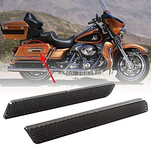 ShineBear Fittings cobertores de pestillo para alforja rígida, reflectores de Humo, se Adapta a Harley Electra Road Glide Touring