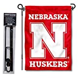 College Flags & Banners Co. Nebraska Cornhuskers Garden Flag with Stand Holder
