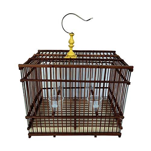 ffshop Jaula para Pájaros Jaula de pájaros Rectangular Marrón Interior y Exterior...