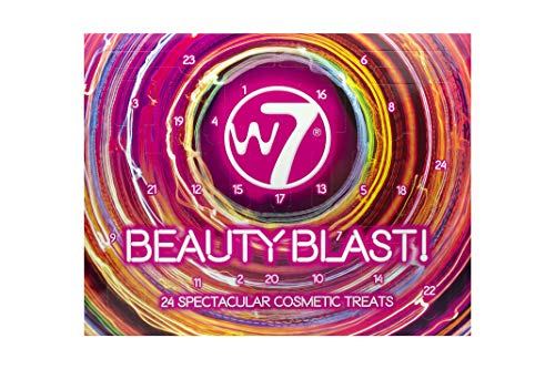 W7   Beauty Blast Advent Calendar   24 Doors of Mini and Full Sized Cosmetic Treats   Makeup Gift For Friends And Family   Lipstick, Liner, Glitter and More   Cruelty Free Makeup Gift For Mother's Day