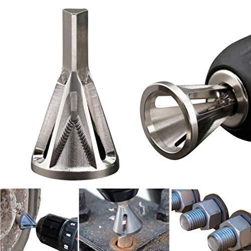 FunMove .sdgr - Herramienta de desbarbado externo para taladrar brocas de acero inoxidable para eliminar el extractor dañado de plata, se adapta a tornillos de tamaño 8-32