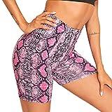Skang Leggins Cortos Yoga Cintura Alta Pantalón Deportivo Elásticos Mallas Pantalones de Yoga Leggings para Running Fitness Ejercicio