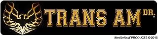 BrotherhoodProducts Pontiac Bandit Trans Am Dr Street Sign