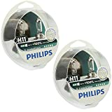 Philips H11 X-tremeVision Upgrade Headlight Bulb with up to 100% More Vision, 4 Pack