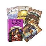 Magia de Tierra Oracle Tarjetas Leer Magia Destino Tarot Juego de Cartas para Uso Personal Juego de Mesa de 48 Tarjeta de terraza para Fiestas Juegos Familiares