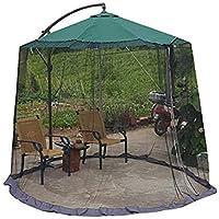 屋外傘傘カバー蚊帳ガーデン傘パラソルパティオシンプルなシングルジッパー蚊帳防蚊