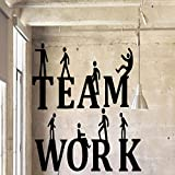 BFMBCH Teamwork Famille Stickers Muraux Murale Artistes Living Décoration Salle Des Enfants Salon Salon Réunions Sont Appliques Peintures Murales Accueil Stickers Muraux Rouge L 43cm X 70cm