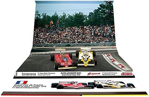 Brumm - As58 - Véhicule Miniature - Modèle à L'échelle - Ferrari 312 T4 - Renault Rs12 - Duel Dijon 1979 - Echelle 1 43
