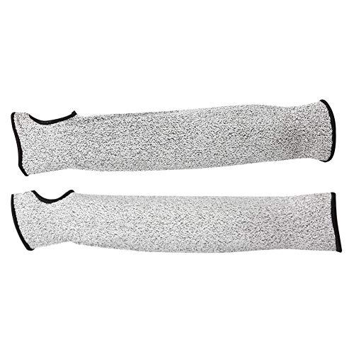 Anti-corte Manguitos de Corte,36cm / 14in Mangas de Resistente a Cortes Protección de nivel 5 mangas resistentes a los cortes para el trabajo de seguridad
