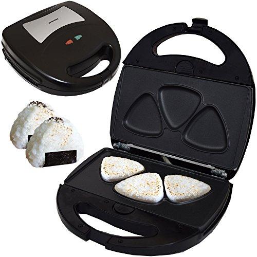 Syntrox Germany Onigiri Maker dreieckige japanische Grill Reisbälle Chefmaker SM-1300W Rice mit herausnehmbaren Backplatten