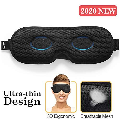 Antifaz para dormir Unimi para mujeres y hombres, antifaz ultrafino que bloquea la luz 3D, material de lycra suave, 360 ° sin ángulo ciego para bloquear completamente el antifaz ligero para dormir