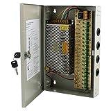 RPS Alimentatore per CCTV Telecamere di sorveglianza DC 12V 15A 180W–18canali + Caja Metalica e chiavi incluso