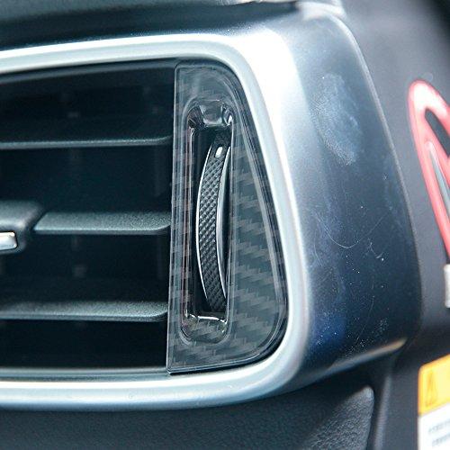 2x Carbon Faser Stil ABS KFZ Klimaanlage Vent Steckdose Anpassung Schalter Deckel PAILLETTEN Trim für Jag XE f-pace
