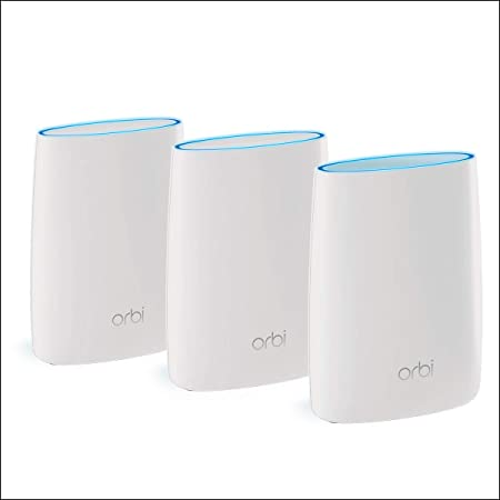 Netgear Orbi RBK53 - Sistema WiFi Mesh tribanda AC3000, cobertura de hasta 525 m², kit de 3, con 1 router y 2 satélites