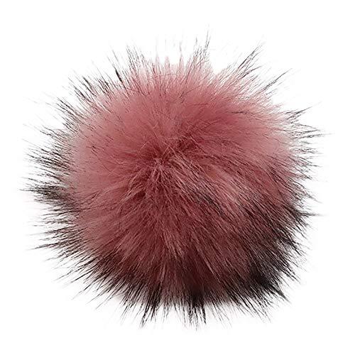 serliy DIY Kunstpelz Pom Pom Ball Pelz Pom Poms für Hüte Schuhe Schals Tasche Pompons Keychain Charms Stricken Hut Zubehör
