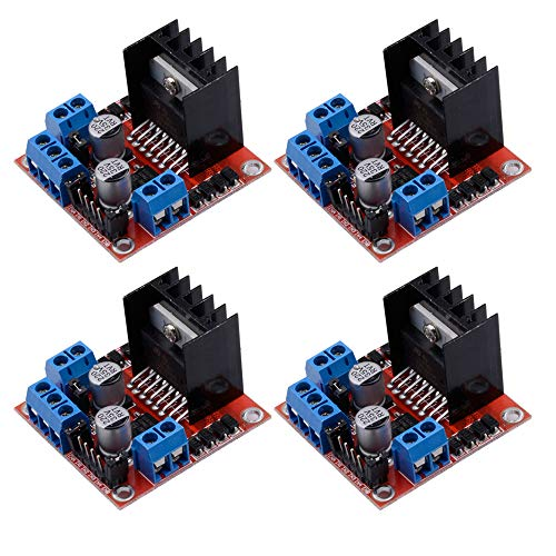 4 Paquetes L298N Controlador de Motor Paso a Paso módulo de Placa Dual H Puente DC Stepper para Arduino Smart Car Robo