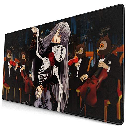 LFLLFLLFL XXL Mousepad,Gaming Mauspad Gaming Mauspad Anime Butler wasserdichte Optimale Gleitfläche Anti Rutsch Gaming Matte Verbessert Präzision und Geschwindigkeit 800X300X3 mm