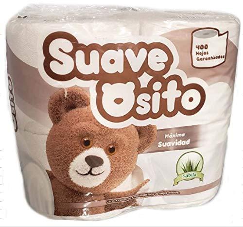 Suave Osito Premium Soft Toilet Paper 24 Rolls, With Aloe Vera, 400 Sheets Per Roll, 2PLY Bath Tissue (24 Rolls)…
