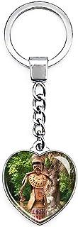 UK Engeland Englefield Green Savill Tuin Sleutelhanger Creatieve Dubbelzijdige Hartvormige Crystal Sleutelhanger Reizen So...