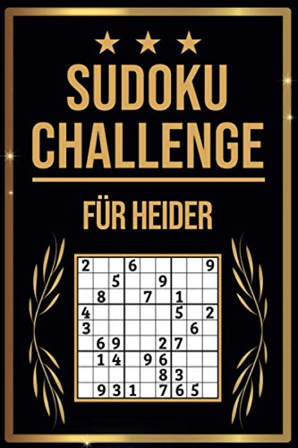SUDOKU Challenge für Heider: Sudoku Buch I 300 Rätsel inkl. Anleitungen & Lösungen I Leicht bis Schwer I A5 I Tolles Geschenk für Heider