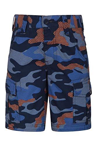 Mountain Warehouse Cargo Il carico Scherza Gli Shorts - 100% Pantaloni del Cotone, Waistband Registrabile, Shorts di Estate dei Bambini Molli, Tasche Arancione 3-4 Anni