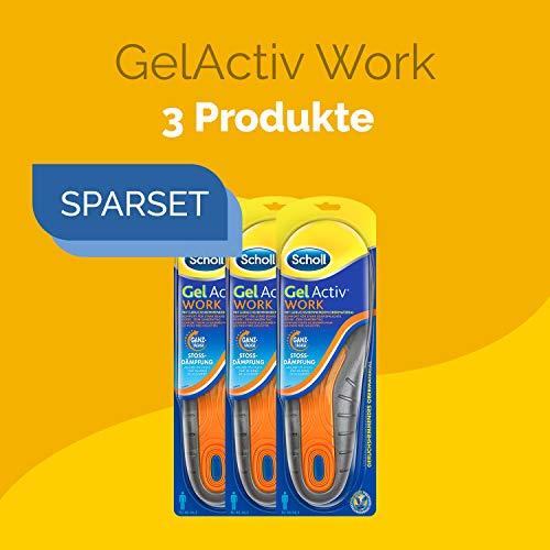 Einlegesohlen für Arbeitsschuhe 3 Paar für ganztägigen Komfort im Arbeitsalltag in Schuhgröße 40-46,5 Scholl GelActiv Work