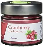 CRANBERRY PULVER | reines Cranberry Fruchtpulver im hochwertigen Glas | 70 Gramm | Premium Qualität aus Deutschland