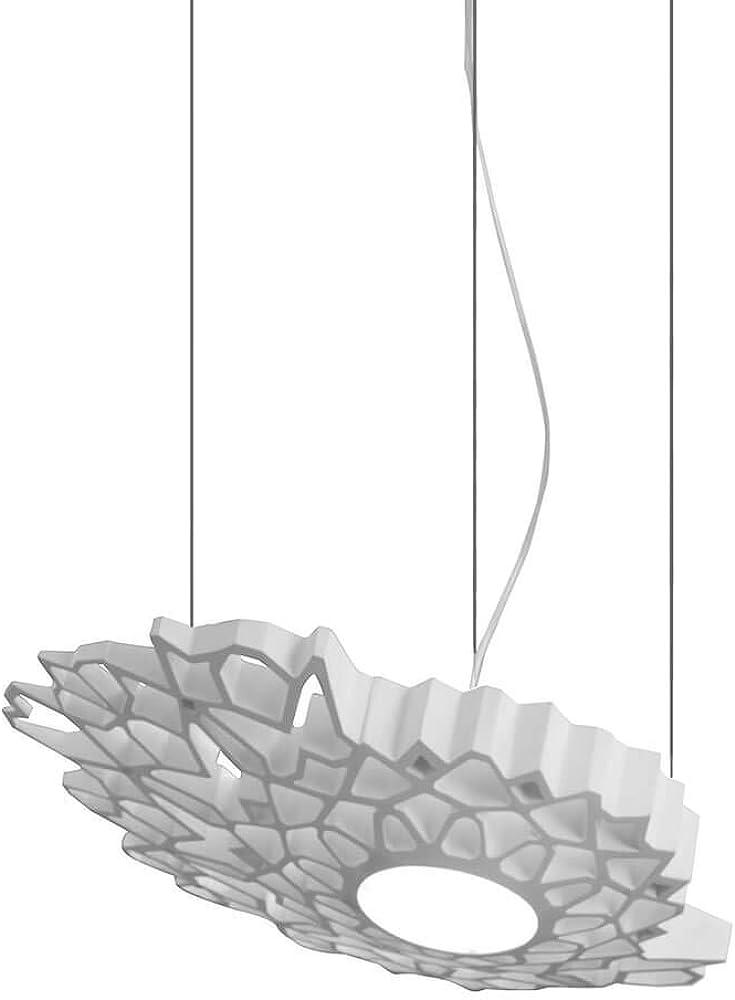 Karman notredame led, lampada a sospensione dimmerabile bianca,rosone in metallo bianco opaco SE130-4B