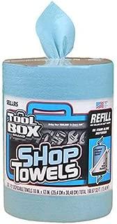 SELLARS WIPERS & SORBENTS 55207 Blue Toolbox Z400 Big Grip Refill Blue Shop Towels, 2493114, 10